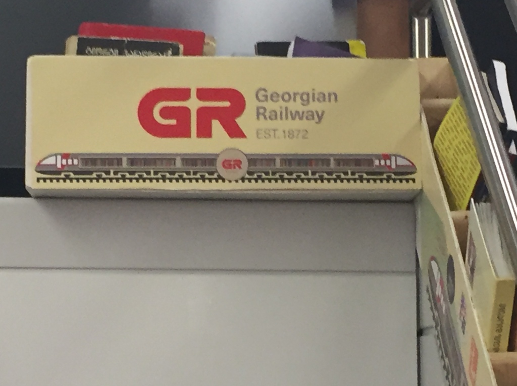 "A box of books marked ""Georgian Railways""."